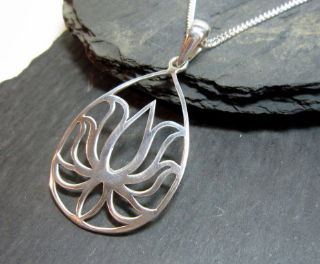 Silverhalsband Lotus